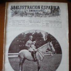 Coleccionismo de Revistas y Periódicos: ILUSTRACION ESPAÑOLA/AMERICANA (15/08/1908) SAN SEBASTIAN REGATAS SANTANDER ZEPPELIN TUBINGEN PLA. Lote 25417937