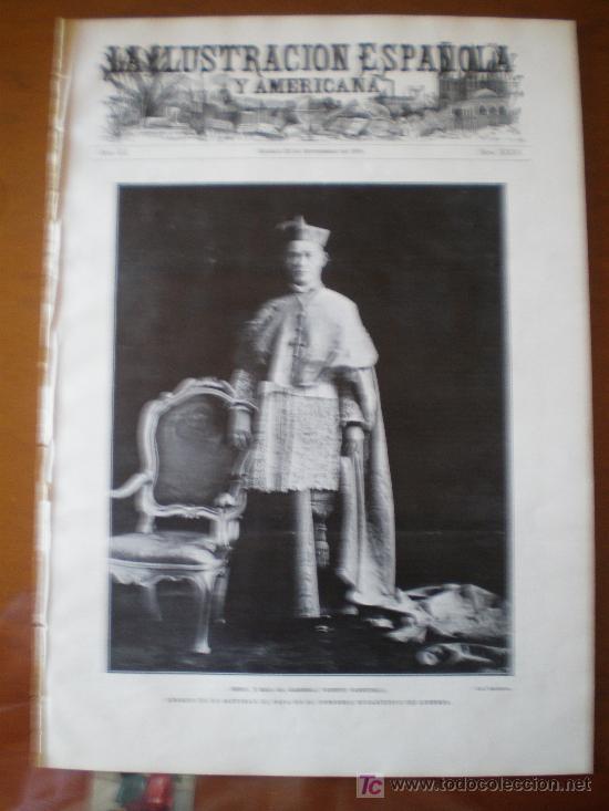 ILUSTRACION ESPAÑOLA/AMERICANA (22/09/1908) SANTILLANA SANTANDER MARRUECOS TANGER ZARAGOZA CAZA (Coleccionismo - Revistas y Periódicos Antiguos (hasta 1.939))