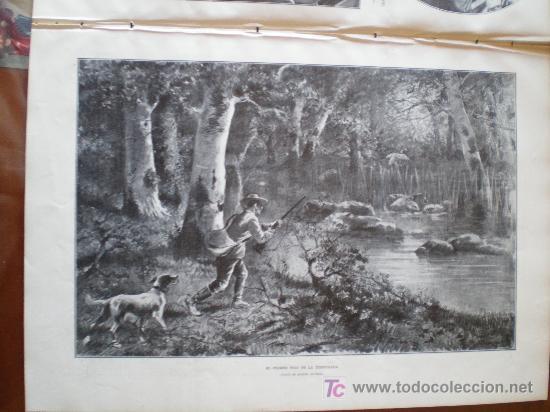 Coleccionismo de Revistas y Periódicos: EL PRIMER TIRO DE LA TEMPORADA, CUADRO DE MANUEL ALCAZAR - Foto 3 - 25870421