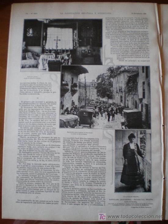 Coleccionismo de Revistas y Periódicos: SANTILLANA (SANTANDER): BAUTIZO DEL INFANTE CARLOS-MARIA (3 FOTOS) - Foto 2 - 25870421