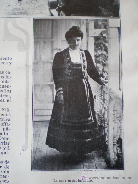 Coleccionismo de Revistas y Periódicos: SANTILLANA (SANTANDER): BAUTIZO DEL INFANTE CARLOS-MARIA (3 FOTOS) - Foto 4 - 25870421