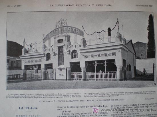 Coleccionismo de Revistas y Periódicos: ZARAGOZA: ILUSIORAMA O TEATRO FANTASTICO INSTALADO EN LA EXPOSICION DE ZARAGOZA - Foto 10 - 25870421
