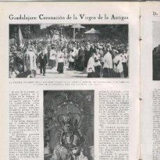 Coleccionismo de Revistas y Periódicos: 1930 VIRGEN LA ANTIGUA GUADALAJARA CASTILLO BAYREN GANDIA SAN FELIU LLOBREGAT MONISTROL MONTSERRAT. Lote 26656247