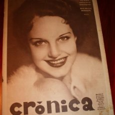 Coleccionismo de Revistas y Periódicos: CRÓNICA - 29 SEPTIEMBRE 1935 - EL SUCESO DE BENIMACLET EN VALENCIA, PORTADA: ROCHELLE HUDSON,........ Lote 11202305