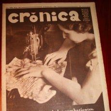 Coleccionismo de Revistas y Periódicos: CRÓNICA - 20 SEPTIEMBRE 1936 - LA NUEVA EMISORA P.C.E.1, DEL PARTIDO COMUNISTA ESPAÑOL,........ Lote 23350386