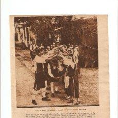 Coleccionismo de Revistas y Periódicos: RECORTE REVISTA.AÑO1934.TENERIFE.BAILES REGIONALES.TIPICAS DANZAS POPULARES.ISLAS CANARIAS.. Lote 11298323