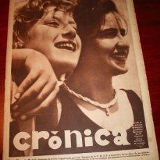 Coleccionismo de Revistas y Periódicos: CRÓNICA - 6 SEPTIEMBRE 1936 - PORTADA: FIESTA ORGANIZADA POR LOS AMIGOS DE LA U.R.S.S EN MADRID,..... Lote 23350385