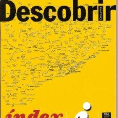 Coleccionismo de Revistas y Periódicos: DESCOBRIR CATALUNYA. INDEX Nº 13 A 24, INDICE. REVISTA MENSUAL O BIMESTRAL. EN CATALÀ. Lote 11547000