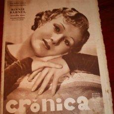 Coleccionismo de Revistas y Periódicos: CRONICA - 26 ABRIL 1936 - PORTADA: BINNIE BARNES, LUIS COMPANYS Y DIEGO MARTINEZ EN SEVILLA, ....... Lote 27885854