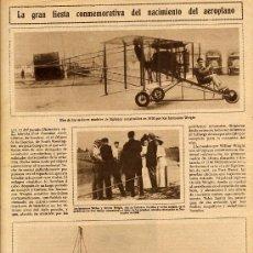 Coleccionismo de Revistas y Periódicos: AVIACION 1908 LONDRES HOJA REVISTA . Lote 11476267