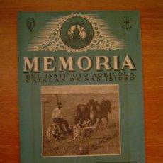 Coleccionismo de Revistas y Periódicos: MEMORIA DEL INSTITUTO AGRICOLA CATALAN DE SAN ISIDRO BARCELONA MARZO 1945. Lote 11520348