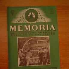 Coleccionismo de Revistas y Periódicos: MEMORIA DEL INSTITUTO AGRICOLA CATALAN DE SAN ISIDRO BARCELONA AGOSTO 1945. Lote 11520380