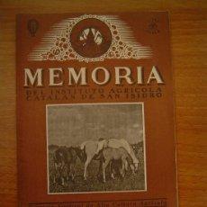 Coleccionismo de Revistas y Periódicos: MEMORIA DEL INSTITUTO AGRICOLA CATALAN DE SAN ISIDRO BARCELONA SEPTIEMBRE 1945. Lote 11520402