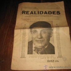 Coleccionismo de Revistas y Periódicos: REALIDADES SEMANARIO CATOLICO ORGANO DEFENSOR DEL RETIRO OBRERO MARZO 1933. Lote 17532047