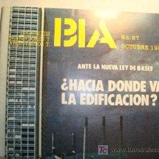 Coleccionismo de Revistas y Periódicos: BIA Nº 37 ,1980, COLEGIO DE APAREJADORES Y ARQUITECTOS T.BIA. Lote 11843367