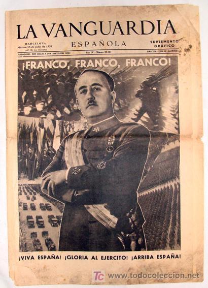 Diario la vanguardia 18 de julio de 1939 n comprar - Portada de la vanguardia ...