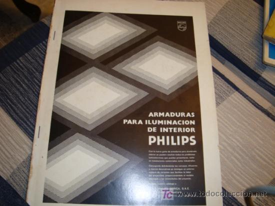CATALOGO PHILIPS , ARMADURAS PARA ILUMINACION DE INTERIORES AÑOS 70 (Coleccionismo - Revistas y Periódicos Modernos (a partir de 1.940) - Otros)