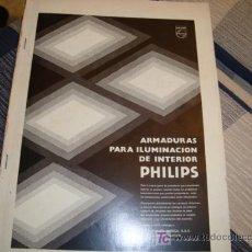 Coleccionismo de Revistas y Periódicos: CATALOGO PHILIPS , ARMADURAS PARA ILUMINACION DE INTERIORES AÑOS 70. Lote 11903334