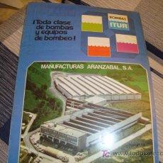 Coleccionismo de Revistas y Periódicos: CATALOGO, TODA CLASE DE BOMBAS Y EQUIPOS DE BOMBEO, MANUFACTURAS ARANZABAL, S.A. Lote 11903363