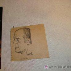 Coleccionismo de Revistas y Periódicos: RECORTE DE CARICATURA DE MINGOTE, DE UN TROZO DE PERIODICO,. Lote 11903576