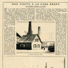 Coleccionismo de Revistas y Periódicos: KRUPP 1915 FABRICA 3 HOJAS REVISTA . Lote 11910313