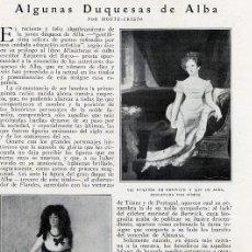 Coleccionismo de Revistas y Periódicos: DUQUESA DE ALBA 1926 2 HOJAS REVISTA. Lote 12185924