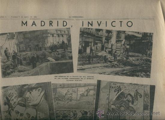 Vanguardia guerra civil 1937 la puerta del sol comprar revistas y peri dicos antiguos en - Puerta de madrid periodico ...