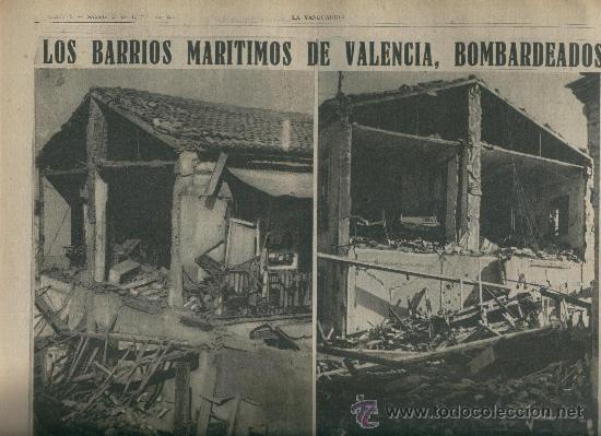 Coleccionismo de Revistas y Periódicos: 1937 CARTELES DE LA GUERRA CIVIL BOMBARDEO D VALENCIA DIBUJANTES NELO BAGARIA DURBAN BENIGANI MORENO - Foto 2 - 12416156