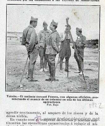 MARRUECOS 1922 FRANCO TENIENTE CORONEL RETAL REVISTA (Coleccionismo - Revistas y Periódicos Modernos (a partir de 1.940) - Otros)