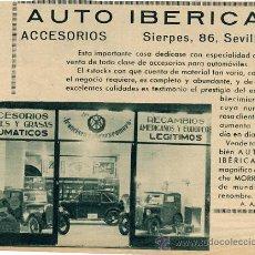 Coleccionismo de Revistas y Periódicos: SEVILLA 1933 AUTO IBERICA RETAL REVISTA. Lote 12516841