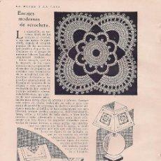 Coleccionismo de Revistas y Periódicos: ENCAJES MODERNOS DE CROCHET - 1929 * GANCHILLO *. Lote 18799844