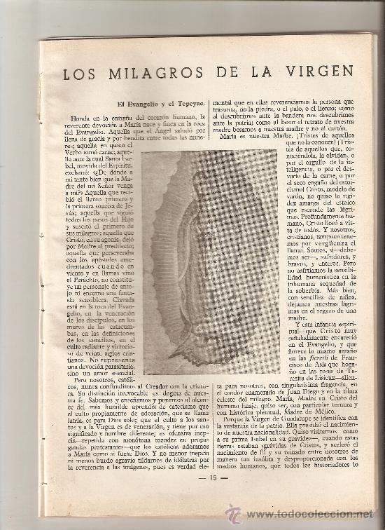 REVISTA.AÑO 1950.GUIPUZCOA.MILAGRO EN JUAN ARANGUREN. MILAGROS DE LA MACARENA.FAVORES DEL P.DAMIAN. (Coleccionismo - Revistas y Periódicos Modernos (a partir de 1.940) - Otros)