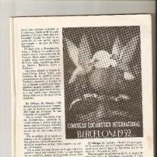 Coleccionismo de Revistas y Periódicos: REVISTA.AÑO 1952.CONGRESO EUCARISTICO DE BARCELONA.IGNACIO CALDERON FOCH.FAVORES.. Lote 12679093