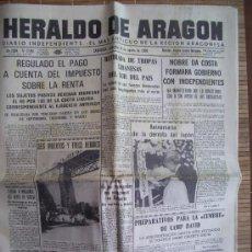 Coleccionismo de Revistas y Periódicos: PERIODICO HERALDO DE ARAGON . 16-08-78 CON ACTUALIDAD BILBILITANA. Lote 27578975
