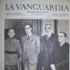 Collectionnisme de Revues et Journaux: LA VANGUARDIA 6 DE JUNIO 1936 BARCELONA. Lote 12799078