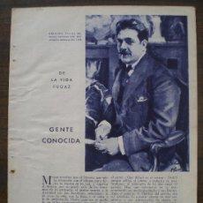Coleccionismo de Revistas y Periódicos: RECORTE DE PRENSA 1933 - GENTE CONOCIDA (DE LA VIDA FUGAZ) - PINTOR FERNANDO VISCAI. Lote 12857709