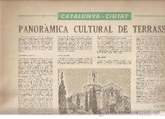 Coleccionismo de Revistas y Periódicos: AÑO 1966 FRANCESC PUJOLS PAU VILA TERRASSA CANTONIGROS MERMELADA CASCABEL CANTIRS ARGENTONA - Foto 2 - 12880002