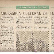 Coleccionismo de Revistas y Periódicos: SEMANARIO EN CATALAN.AÑO 1966.FRANCESC PUJOLS.PAU VILA.TERRASSA.CANTONIGROS.LA FAMILIA.. Lote 12880002