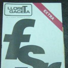 Coleccionismo de Revistas y Periódicos: REVISTA LLORET GACETA - LLORET DE MAR - NRO.160-161 NOVIEMBRE 1978. Lote 12882067