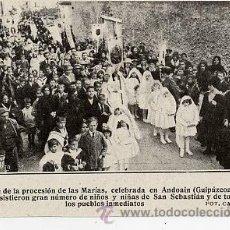 Coleccionismo de Revistas y Periódicos: ANDOAIN 1918 PROCESION RETAL REVISTA. Lote 12917861