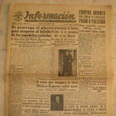 Coleccionismo de Revistas y Periódicos: DIARIO INFORMACIÓN (10-1-1948). Lote 27142793