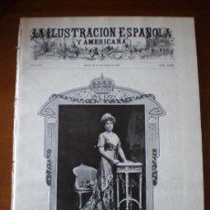 Coleccionismo de Revistas y Periódicos: ILUSTRACION ESPAÑOLA/AMERICANA (22/11/09) SANTIAGO DE COMPOSTELA ARQUEOLOGIA MELILLA ARMADA VALENCIA. Lote 26348217