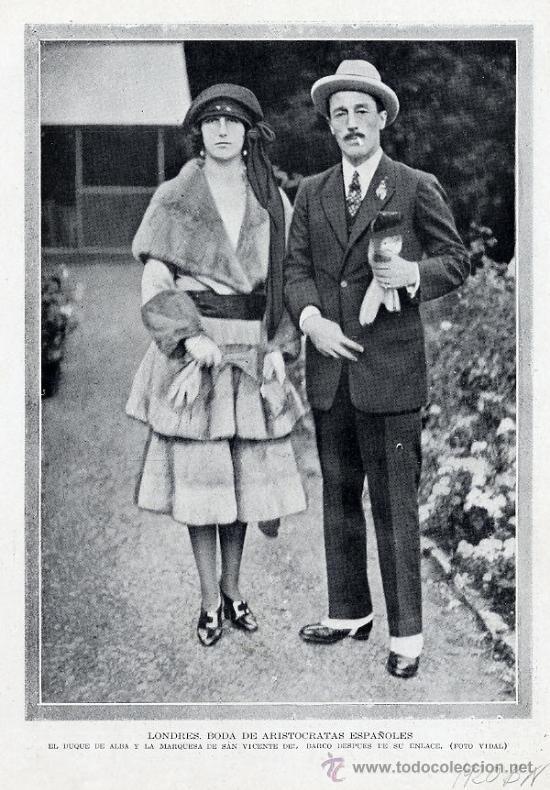 DUQUESA DE ALBA 1920 MATRIMONIO DUQUE DE ALBA HOJA REVISTA (Coleccionismo - Revistas y Periódicos Modernos (a partir de 1.940) - Otros)