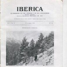 Coleccionismo de Revistas y Periódicos: REVISTA IBERICA AÑO 1914 52 REPOBLACION FORESTAL EN CANFRANC EPIFANIO ARAÑONES FERROCARRIL. Lote 13332879