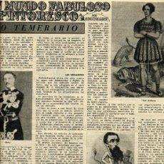Coleccionismo de Revistas y Periódicos: CIRCO 1953 LO TEMERARIO 2 HOJAS REVISTA. Lote 13588212