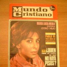 Coleccionismo de Revistas y Periódicos: REVISTA MUNDO CRISTIANO-Nº41.JUNIO 1966-. Lote 13685765