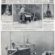 Coleccionismo de Revistas y Periódicos: BARCELONA 1914 NEVADA HOJA REVISTA. Lote 13757145