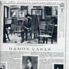 Coleccionismo de Revistas y Periódicos: RAMON CASAS 1915 ESTUDIO 3 HOJAS REVISTA. Lote 13827772