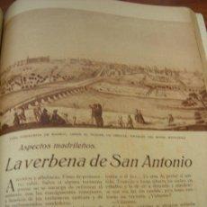 Coleccionismo de Revistas y Periódicos: REVISTA, BLANCO Y NEGRO: ASPECTOS MADRILEÑOS. LA VERBENA DE SAN ANTONIO. Lote 13893977
