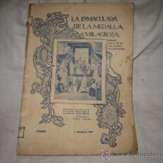 Coleccionismo de Revistas y Periódicos: LA INMACULADA DE LA MEDALLA MILAGROSA REVISTA MENSUAL MADRID 1 DE DICIEMBRE DE 1931. Lote 14046902